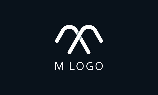 Minimalist modern line art letter M logo. This logo icon incorporate with two abstract triangle in the creative way.