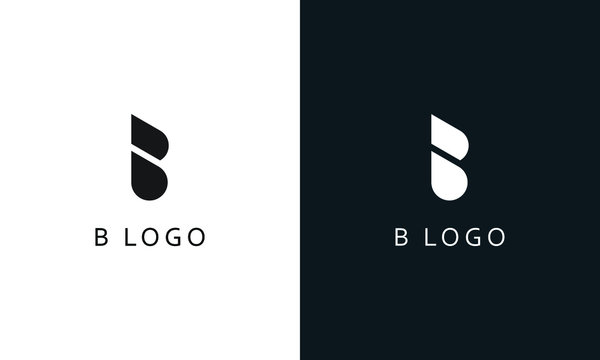 Minimalist modern abstract letter B logo. This logo icon incorporate with two round triangle in the creative way.