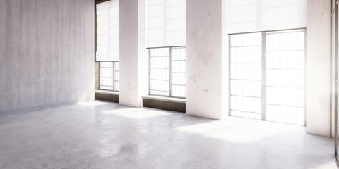 Contemporary Office Loft after Renovation III - panoramic 3d visualization