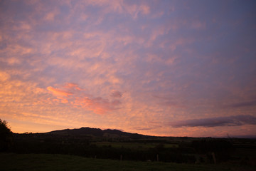 Fotorolgordijn Chocoladebruin Mountain Sunset