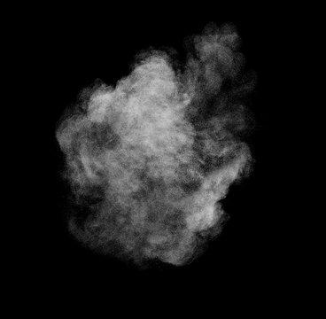 smoke steam fog powder air background shape black