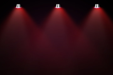 Wall Mural - red stage with spotlight