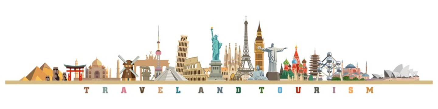 world culture tourism travel historical monuments and holiday
