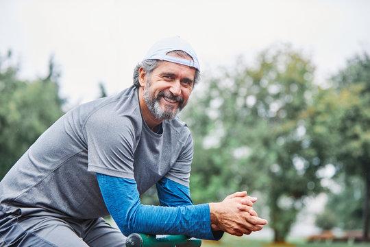 senior man running exercising sport fitness active fit