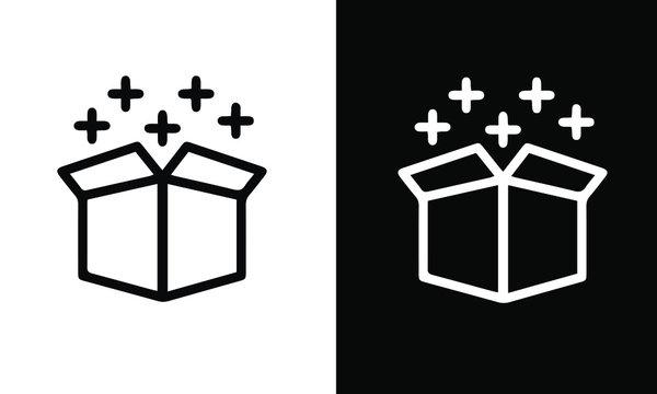 Magic icon set vector design black and white