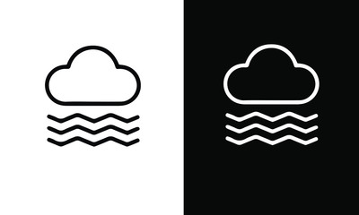 Water icon set vector design black and white