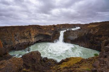 Aldeyjarfoss waterfalls in northern Iceland