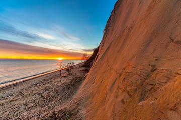 Zelfklevend Fotobehang Diepbruine sky sun sea