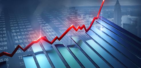 Börse Finanzen Investment  - fototapety na wymiar