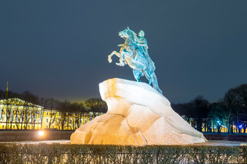 Bronze Horseman in St. Petersburg, Russia