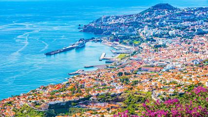 The capital of Madeira Island - Funchal city Fototapete