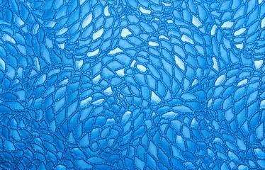 Photo sur Toile Les Textures blue embossed leather background texture