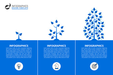 Wall Mural - Infographic design template. Creative concept with 3 steps