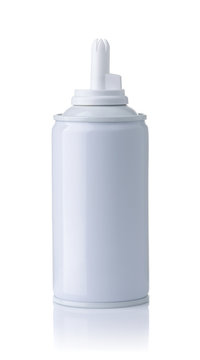 Front view of blank whipped cream bottle