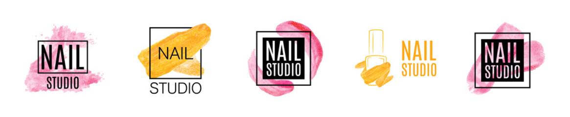 Vector logo of nail care Studio, nail Polish