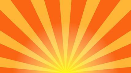 Sunburst vector. Sun rays yellow background