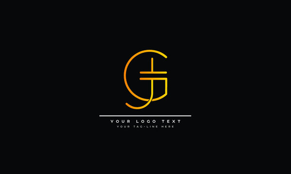 GJ ,JG ,G ,J  Letter Logo Design with Creative Modern Trendy Typography