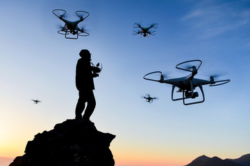 Training and learning activities with drone