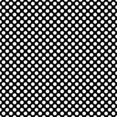 Seamless vector dark pattern with white polka dots on black background. For web design, blog, desktop wallpaper, texture.