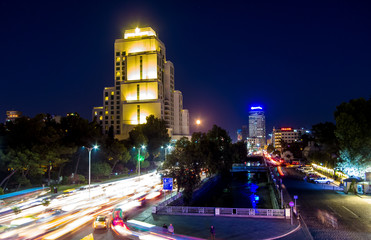 Four Seasons Hotel in Damascus Syria at evening time