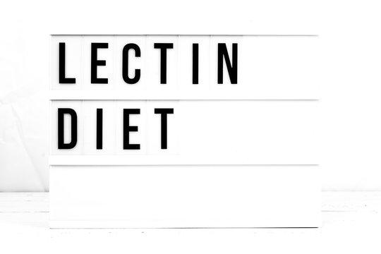 Lectin Diet. Health Retro Quote board information sign