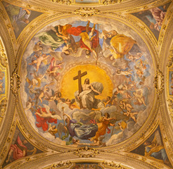 Fototapete - RAVENNA, ITALY - JANUARY 28, 2020: The freco Glory of Resurected Jesus from the cupola of side  chapel in Duomo (cathedral) by Guido Reni (1575 - 1642).