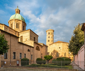 Wall Mural - Ravenna - The Duomo (cathedral) and the baptistery Battistero Neoniano.