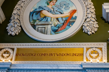 Mural in Library of Congress