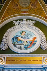 Mural on walls of  Library of Congress