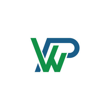 Initial letter wp or pw logo vector design template