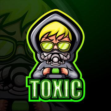 Toxic kid esport mascot logo design