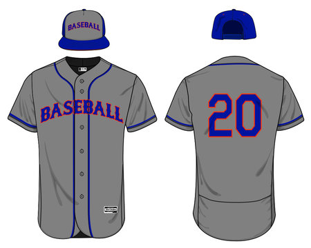 Baseball jersey uniform template mockup vector
