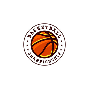 basketball logo emblem vector