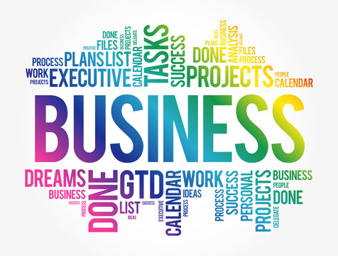 Business word cloud collage, concept background