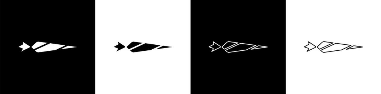 Set Marijuana joint, spliff icon isolated on black and white background. Cigarette with drug, marijuana cigarette rolled. Vector Illustration