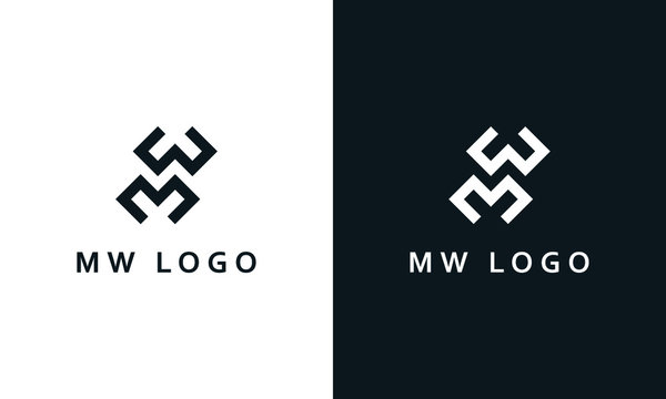 Minimalist elegant line art letter MW logo. This logo icon incorporate with two letter M and W in the creative way.