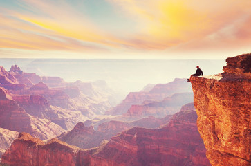 Foto op Aluminium Wit Grand Canyon