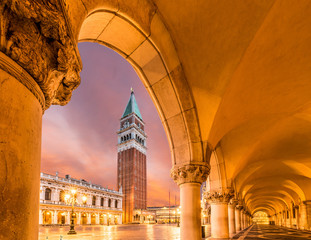 Wall Mural - San Marco square at night, Venice, Italy