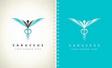 caduceus medical logo vector design