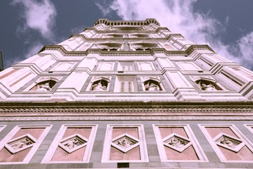 Wall Mural - Florence Cathedral campanile. Vintage style filtered colors.