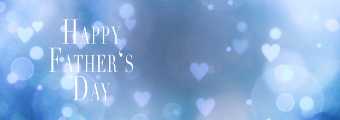 Fototapete - Happy Father's Day background banner with hearts