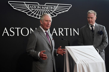 Britain's Prince Charles visits the new Aston Martin Lagonda factory in Barry