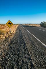 Kangaroo Sign at outback street Australia