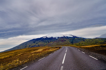 The start of the journey to the center of earth , Snæfellsnes Iceland