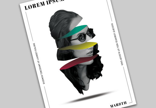 Poster Layout with Abstract Portrait Illustration