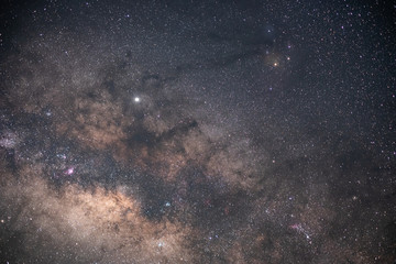 Foto op Textielframe Nacht The stars and the milky way in the night sky are very beautiful.