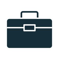 portfolio briefcase documents silhouette style