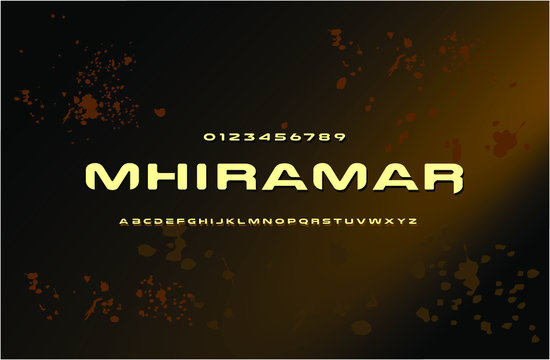 Modern Tactical Alphabet Font. Typography military style fonts for technology, digital, game logo design. Vector illustration