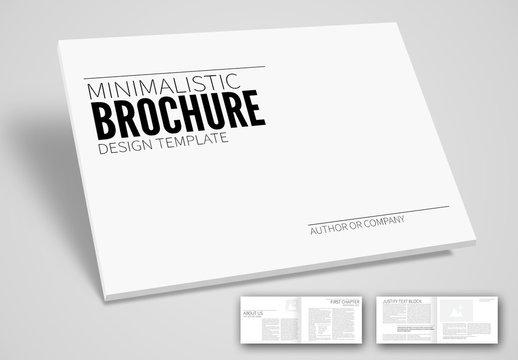 Minimal Design Business Horizontal Brochure Layout