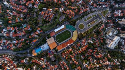 Aerial view of Pacaembu football stadium